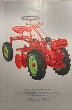 Montgomery Ward Color 1955 Farm Catalog Midland Lawn Garden Tractor Plow Trac