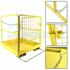 36 X 36 Inch Heavy Duty Forklift Safety Cage 1105lbs Work Platform Collapsible