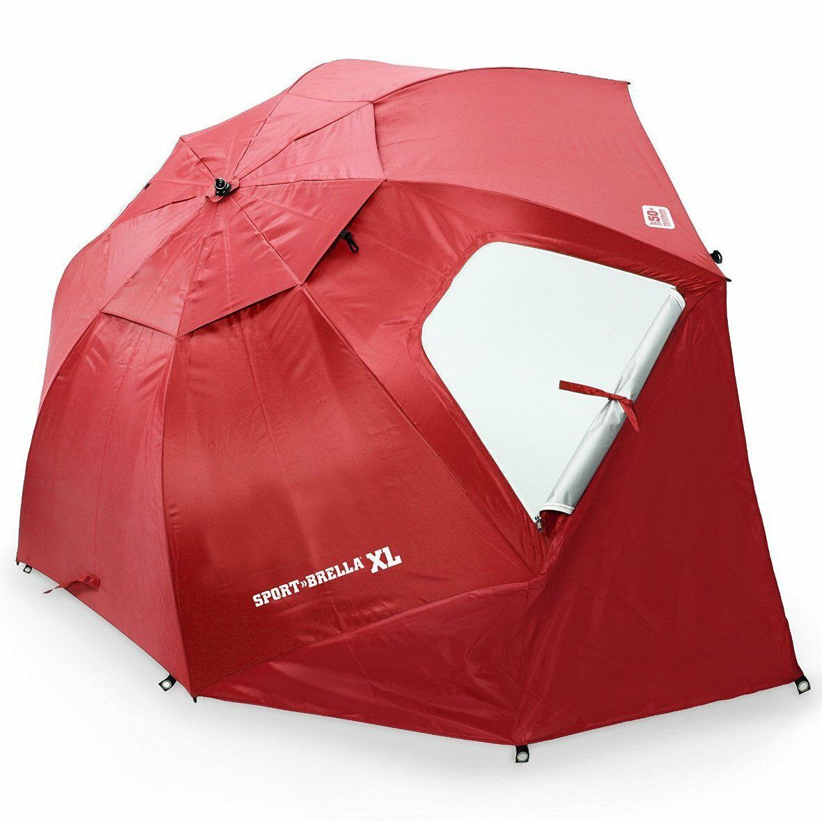 Sport Brella Umbrella Superbrella Beach rosso Wide Sun Prossoection XL 9 Feet nuovo