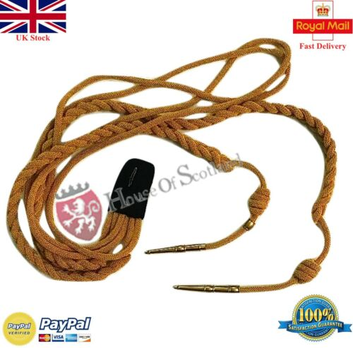 New Army Aiguillette Gold Wire Cord Army//Military Officer Shoulder Aiguillette