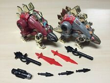Dinobot Snarl G1 and G2 Red Variant - Both Loose and Complete