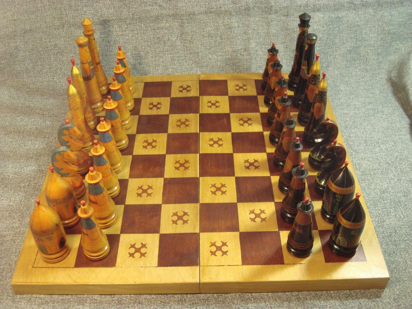 Vintage Soviet USSR Chess tavola  with Asian cifras 876  la migliore offerta del negozio online