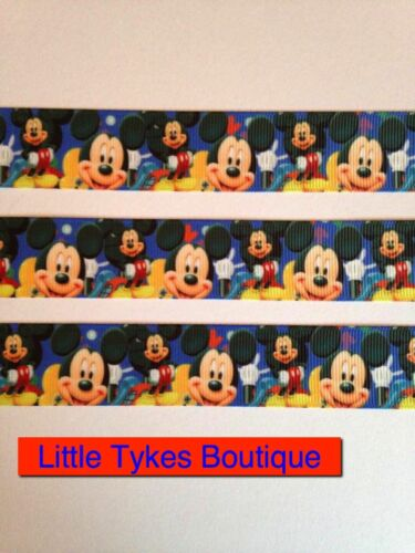 """Mickey Mouse Ribbon 1/"""" Wide 1m is only £0.99 NEW"""