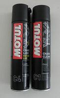 MOTUL GRASSO CATENA RACING ROAD CHAIN LUBE FACTORY LINE C4 + PULISCI CATENA C1