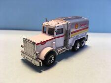 Diecast Matchbox Peterbilt Shell Truck 1981 White Wear & Tear Good