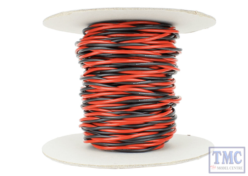 DCW-TW25-2.5 DCC Concepts 25m of 2.5mm (13g) Twin Twisted Power Bus Wire