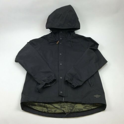 LEVIS HOODED JACKETS BLACK MEN'S SMALL
