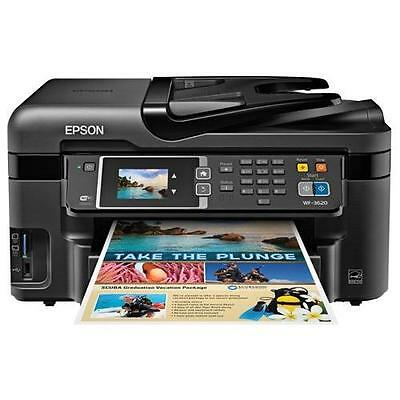 Epson WorkForce WF-3620 WiFi Direct All-in-One Color Inkjet Printer, Copier, New