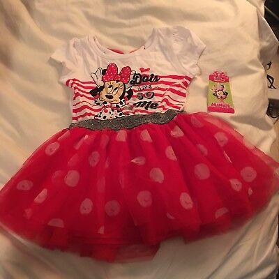 Girl Minnie Mouse Polka Dotted Tutu Skirt Princess Ladybug Party Dress K37