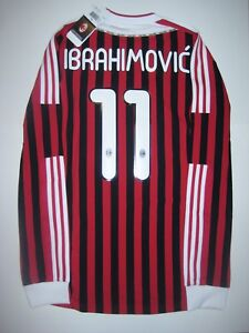 best loved 6d957 e8b08 Details about New 2011-2012 Adidas AC Milan Zlatan Ibrahimovic Kit Long  Sleeve Shirt Jersey