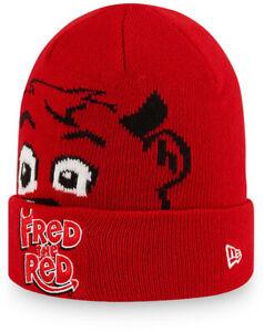 Fred El Rojo New Era Manchester United Bebés Gorro de Punto (0-2 Años)