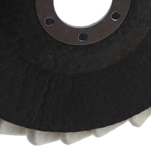 Round Flap Faux Wool Disc Polishing Angle Grinder Buffing Wheel Accessories J