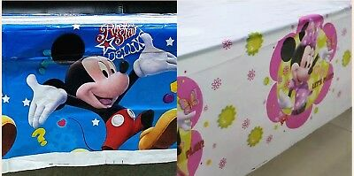 Party Supplies Mickey Mouse Table Cover Cloth Tableware Party Supplies Plastic 108CM X180CM