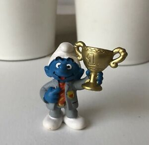 Smurf-figure-toy-Schleich-Peyo-President-Football-Soccer-Trophy-Cup-Germany-2003