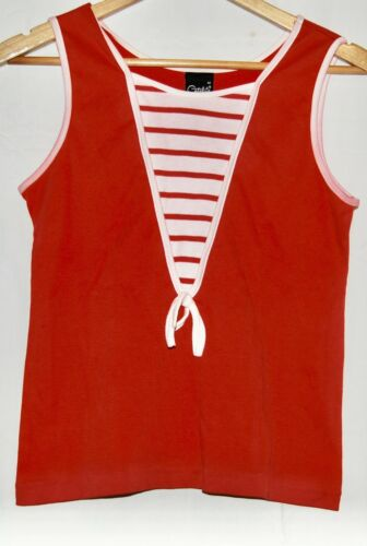 Vintage Catalina Women's Red Polyester Vest Blouse