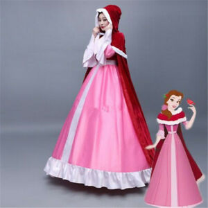 Anime Beauty and The Beast Belle Pink Cosplay Costume ...