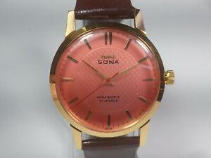 Vintage-Hmt-Sona-Mechanical-Hand-Winding-Movement-Mens-Analog-Wrist-Watch-C353