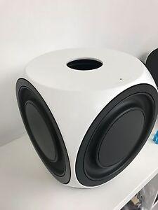 bang olufsen b o beolab 2 active subwoofer white ebay. Black Bedroom Furniture Sets. Home Design Ideas