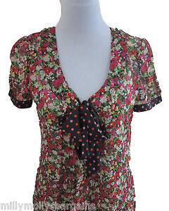 New-Womens-Green-amp-Black-amp-Pink-Red-amp-NEXT-Blouse-Top-Size-12-8-RRP-25