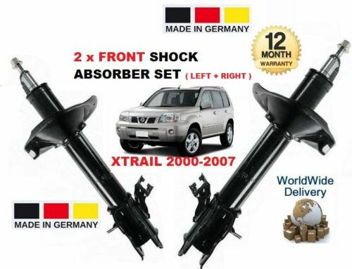 FOR NISSAN  X TRAIL 2.0 2.2 2.5 2001-2007 2x FRONT LEFT RIGHT SHOCK ABSORBER T30