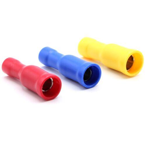 Câble Connecteur Rouge Bleu Jaune Connecteurs Coaxiaux rundsteckhülsen 0,5-6 mmâ² Câble Chaussures