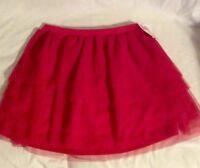 Girls Circo Red Frilly Skirt Size Xl 14-16 Girl's Red Lined Mesh Skirt