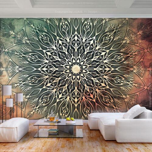 VLIES FOTOTAPETE Mandala Orient Indische braun TAPETE WANDBILDER XXL Wohnzimmer