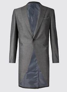 Spencer Grigio Marks Jacket 40 Coat Matrimonio Morning Tail Bnwt Medio qU50wZZf