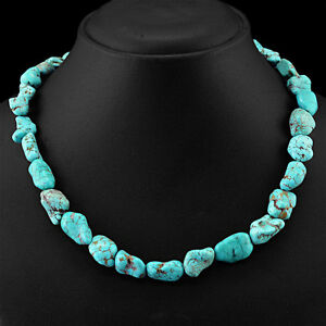 FINEST-RARE-333-50-CTS-NATURAL-UNTREATED-TURQUOISE-BEADS-NECKLACE-LOWEST-PRICE
