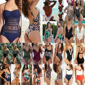 New-Women-One-Piece-Swimsuit-Beachwear-Swimwear-Push-up-Monokini-Bikini-Bathing