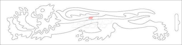 60934: MALOSSI Adhesivo leon Malossi blanco lado izquierdo - 23 cm 33 9756