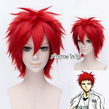 2017 Popular Kuroko no Basket Akashi Seijuro Red 30CM Short Layered Cosplay Wig