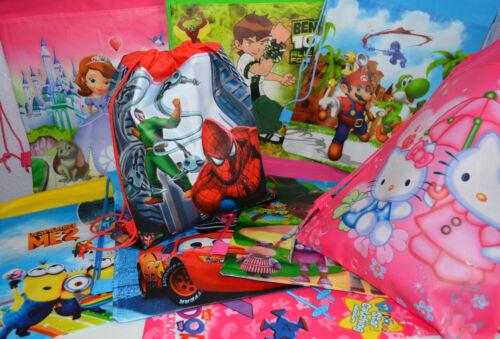Children Character Drawstring Bag Girl/'s Boy/'s Backpack Sport Gym Beach Picnic
