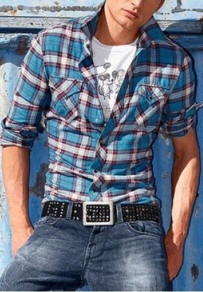 Energie Freizeithemd NEU Gr.XL-XXL Blau Karo Herren Hemd Hemd Hemd Regular Kariert Langarm | Hohe Sicherheit  0a8fa3