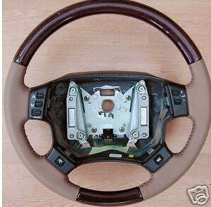 Land Rover Brand Range Rover P38 1995-2002 Walnut Wood Steering Wheel OEM New