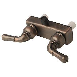Rv Motorhome Two Handle Shower Faucet Valve Diverter Brushed Bronze
