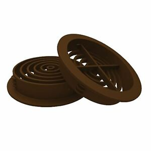 50-x-Brown-Plastic-70mm-Round-Soffit-Air-Vents-Upvc-Push-in-Roof-Disc-Fascia