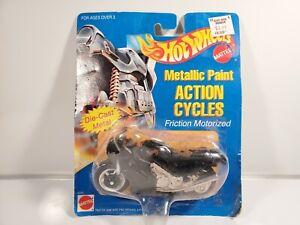 NIP-1995-Mattel-Hot-Wheels-034-Metallic-Paint-034-Action-Cycle-8345