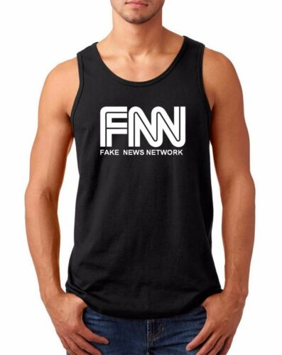 Men/'s Tank Top FNN Fake News Network T-shirt President Trump Tee Funny Humor