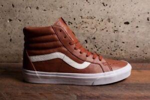 652180d909ab59 VANS Sk8 Hi Reissue (Premium Leather) Tortoise Shell Brown Mens 7.5 ...