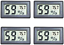 thumbnail 8 - Veanic 4-Pack Mini Digital Electronic Temperature Humidity Meters Gauge Indoor ℉