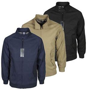 Para-hombre-Harrington-Jacket-Ropa-Casual-en-Negro-Marron-Azul-Marino-desgaste-disenador
