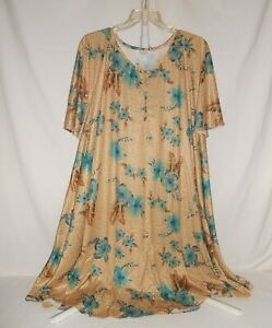 Details about NWOT Women's Plus Size 3X Roaman's Duster House Dress Moo Moo