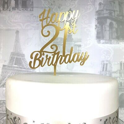 Phenomenal 21St Birthday Cake Topper Acrylic 21 Celebration Cake Topper 19 Funny Birthday Cards Online Hendilapandamsfinfo