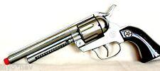 Silver Cap Gun Pistol Made in Spain 12 Shot Ring Cap Toy Gun BRAND NEW 10007
