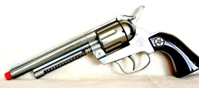 JOAL AGENT SPIELZEUG PISTOLE OVP BOX METAL CAP GUN 70er 12SHOT WESTERN REVOLVER