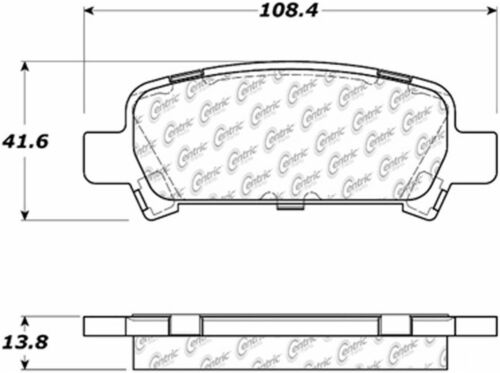 D770 FITS VEHICLES LISTED ON CHART BRAND NEW SEI REAR BRAKE PADS 100.07700