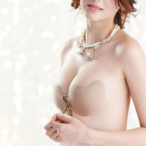 Strapless Invisible Bra Silicone Self Adhesive Stick On Push Up Gel  Backless 1X