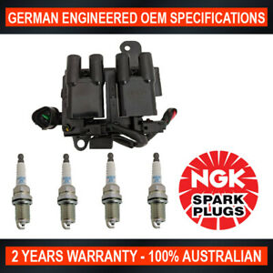 4x-Genuine-NGK-Spark-Plugs-amp-1x-Ignition-Coil-for-Hyundai-ATOS-MX-IL44