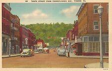 Tenth Street From Pennsylvania Avenue Tyrone PA Postcard